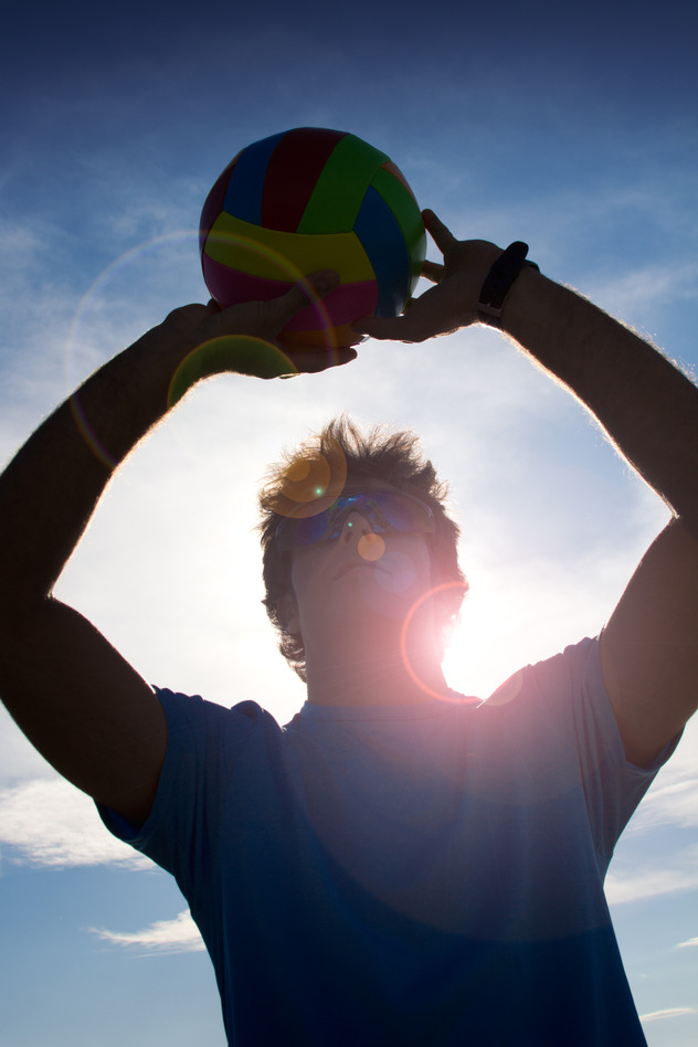 man with volleyball ball s